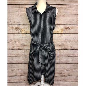 Who What Wear Striped Button-Down Dress